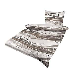 microfaser bettw sche bettbezug 4 tlg bergr e 155x220 ko tex mit rei verschluss. Black Bedroom Furniture Sets. Home Design Ideas