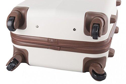 Maleta rígida PIERRE CARDIN beige mini equipaje de mano ryanair 4 ruedas VS162