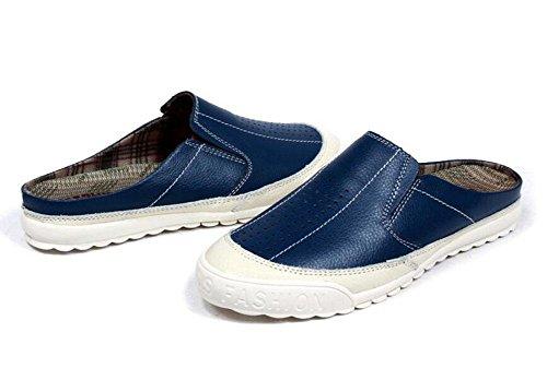 SHIXR Hommes Open Back Pantoufles Été Nouveau Cool Sand Cool Respirant Non-Slip Wear Soft et délicat Classic Sandales confortables Blue