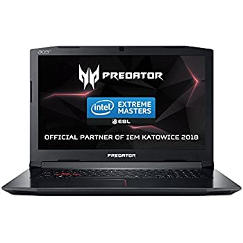 "Acer Predator Helios 300 G3-572 - Ordenador portátil 15.6"" FHD IPS (Intel Core i7-7700HQ, 8 de GB RAM, HDD de 1 TB y 128 GB SSD, Nvidia Geforce GTX1060 de 6 GB, Windows 10 Home) negro"