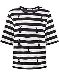 Promod T-Shirt mit Troddeln