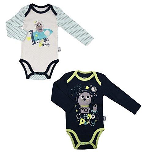 Lot de 2 bodies bébé garçon manches longues Cosmo Party - Taille - 9 mois (74 cm)