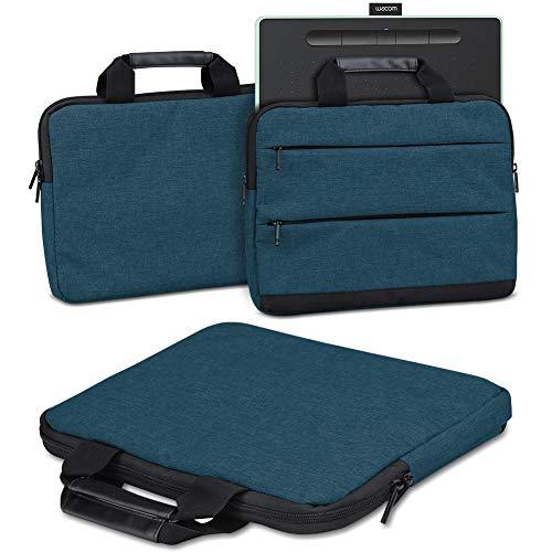 Schutzhülle Wacom Intuos M Grafiktablett Tasche Sleeve Case Stifttablett Hülle in Grau Tragetasche mit Griffen Universal Schutztasche, Farbe:Blau