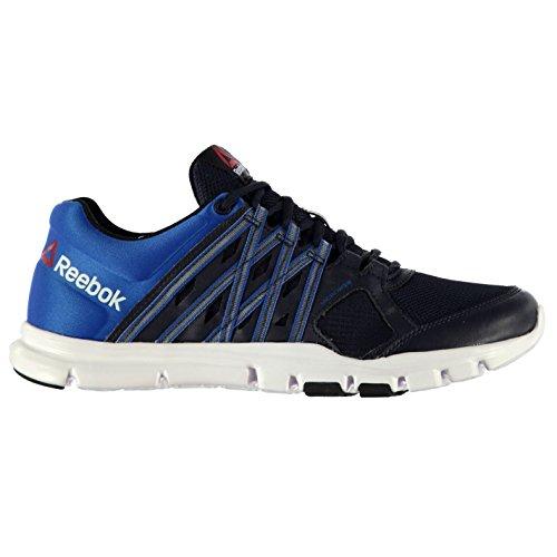 Reebok Hombre Yourflex 8 Zapatillas Con Cordones Textil Zapatos Construccion Azul marino/azul/blanco 42