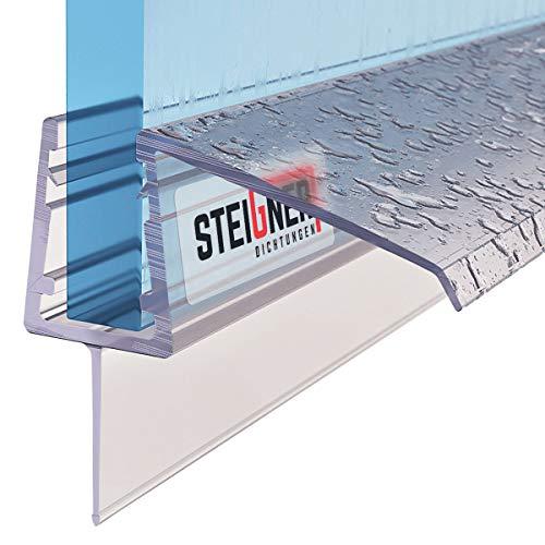 STEIGNER Duschdichtung, 80cm, Glasstärke 4/5/ 6 mm, Gerade PVC Ersatzdichtung für Dusche, UK21