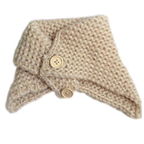 Babybekleidung Schals Longra Winter Baby Kinder Hals warmer Wolle Schal gestrickt Snood Kreis Halstuch Schal Halstuch (0-2 Jahre Baby) (Beige)