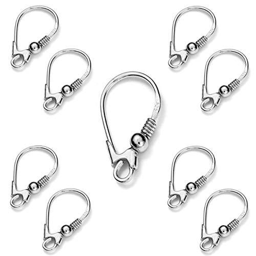 My-Bead 5 Paar Brisuren Ohrhänger 18mm 925 Sterling Silber gestempelt nickelfrei in Juweliers- Qualität