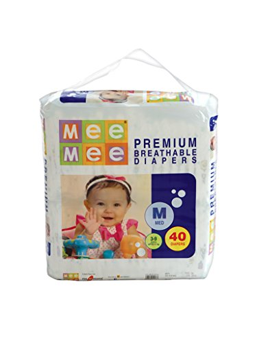 Mee Mee Premium Medium Size Diapers (40 Count)