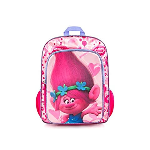 DreamWorks Trolls Brand New Classic Designed Multicolored Kids Glittering Fashionable Backpack 15 Inch