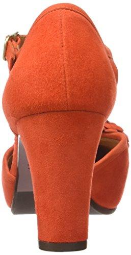Chie Mihara Kali30, Sandales Plateforme Femme Orange (Ante Russo)