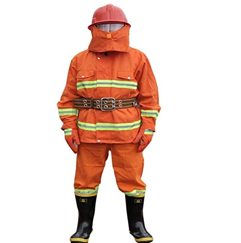 CFF IT Overall Protective Safety Work 97 Set di Indumenti protettivi antifiamma Arancio Arancio (Size : Medium)
