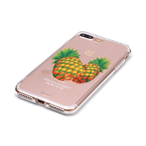 "iPhone 7 Plus Coque Case Souple Transparente TPU Etui de Protection pour Apple iPhone 7 Plus 5.5"" Joli image Motif Serie Ultra Mince Fine Poids léger - Avaler Color-7"