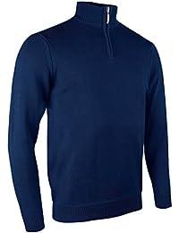 Glemuir Herren Golf Pullover mit Reißverschluss