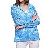 Yammucha Sonnenschutzkleidung Frauen dünne transparente UV-Schutz Schiere Gefühl Camouflage Kleidung entspannt wasserabweisend Outdoor-langärmelige Parka Oberbekleidung (Color : 4)