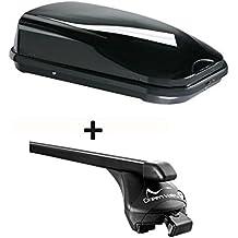 vdp tetto nero JUFL320sturdy auto portapacchi barre portatutto box da tetto 320litri per ringhiera in set per Infiniti QX30dal 2016cy-519fino a 100kg