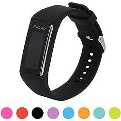 Correa de repuesto para pulsera de actividad Polar A360 Smart Watch iFeeker, correa de silicona y goma para la pulsera de actividad A360 (solo la correa, no incluye el reloj), negro