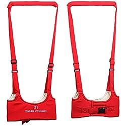 Ibepro® Babywalker de auxiliar de pie para bebé protectora cinturón llevar Trooper Walking Arnés Asistente de Aprendizaje Aprendizaje Walk seguridad Riendas Harness Walker Alas rojo rosso