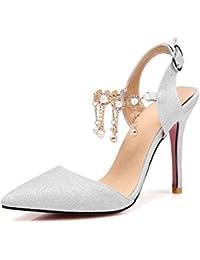 Sandalias Mujer/Sandalia con Pulsera para Mujer/Zapatos de Verano de Tacón Alto con un Temperamento Elegante y...