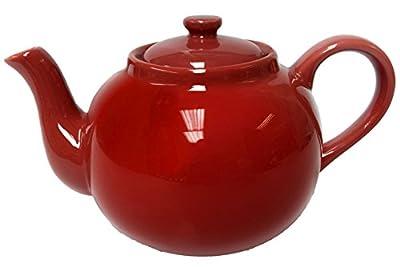 Théière Anglaise 2,5l–Porcelaine Théière XXL–Rouge