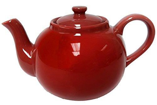 TeeTopf Théière en Porcelaine Rouge Format XXL 2,5 l