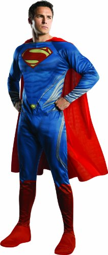 Man of Steel Supermankostüm Herrenkostüm Kostüm für Herren, (Man Of Kostüm Superman Cape Steel)