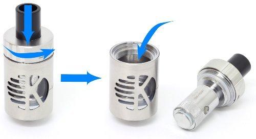 E-Zigarette InnoCigs Cuboid + CL- Tank + 2 x 2500 mAh Akku (Edelstahl)