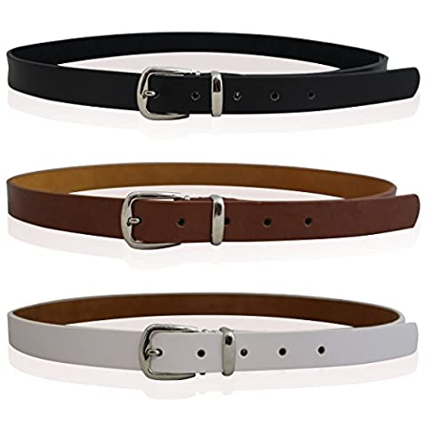 CHILDRENS REAL LEATHER SKINNY BELTS GIRLS BELTS KIDS REAL LEATHER