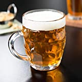 BS Britannia Italian Style Jumbo Beer Mug | 500 Ml | Set Of 2 Glass | Transparent