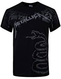Metallica : Black Album Faded Tee-Shirt Homme Sous Licence Officielle
