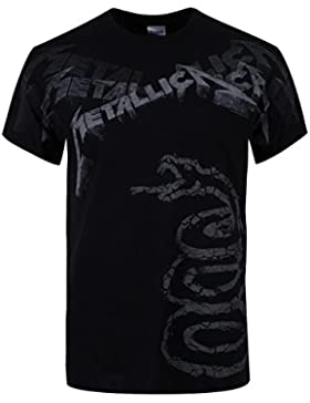 Metallica Black Album Faded T-Shirt schwarz
