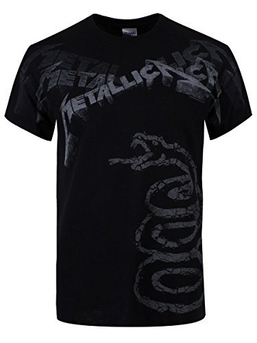 Metallica Black Album Faded Camiseta Negro M