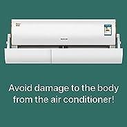 عاكس هواء قابل للطي والتعديل والتداخل لاعاقة تدفق الهواء وتغيير اتجاهه وابعاد الهواء البارد والمؤذي لمكيفات ال