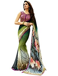 LORD'S Georgette Saree(SBY6109_Multi_Free Size)