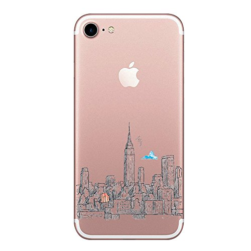 1c5a88cdcc5 Caler Funda iPhone 7,Carcasa iPhone 8 Case, Suave TPU Gel Silicona Ultra-