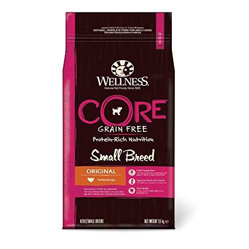 Wellness CORE Small Breed Original / Hundefutter Trocken für kleine Rassen / Getreidefrei / Hoher Fleischanteil / Pute mit Huhn, 1,5 kg