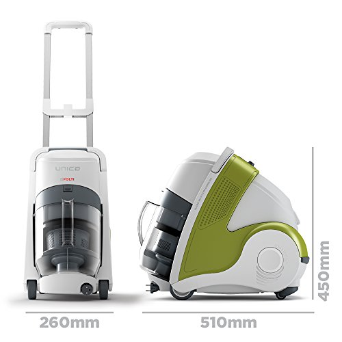 Polti Unico MCV70 Allergy Multifloor and Window Vacuum with Steam Cleaner
