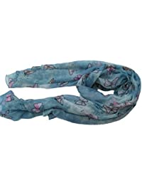 Soft Sophisticated Butterfly Insect Print Ladies Long Scarf, Shawl, Wrap, Sarong by Fat-catz-copy-catz