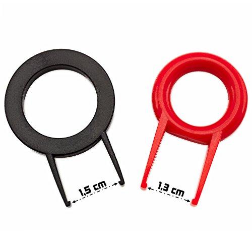 Keycap Puller / Key Cap Remover / Abziehhilfe Twinpack für Tastenkappen von Computer-Tastaturen, kleine + große Bauform