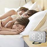 Rifuli-Küche, Haushalt & Wohnen Elektronische Wecker der Uhr LED Digital Wecker mit USB-Anschluss für Telefon-Ladegerät Touch-Activited Snooze Hausgarten Küchenzubehör Uhren Alarm elektronisch
