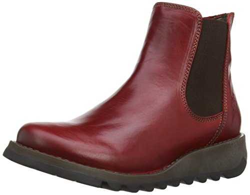 FLY London Damen Salv Chelsea Boots Rot (Red 004)