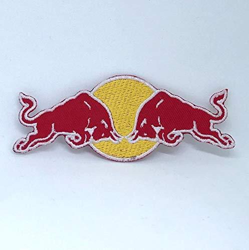 Red Bull Energy Drink Logo Aufnäher, bestickt, F30, 10cm x 4cm - Red Bull Logo