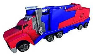 Transformers - Camion Optimus Primecon rampa, Color Rojo / Azul, 16 cm (Dickie 3112003)