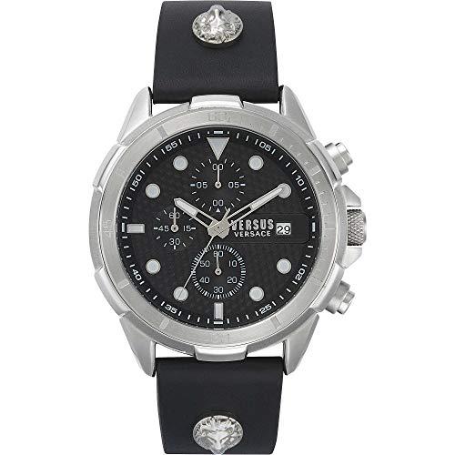 Reloj Versus Versace Arrondissement para Hombre con cronógrafo y Correa Negra, VSPLP0119.