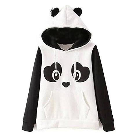 Damen Hoodie Langarm Cartoon Druck Fleece Herbst Kapuzenpullover Pullover Kapuzenshirt Hoody Sweathoodie (XL)