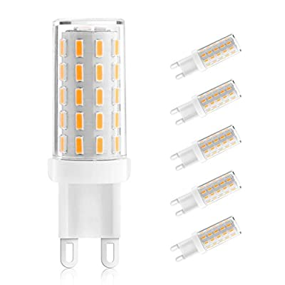 Ascher 5 pack G9 LED Bulbs , No Flicker, No Strobe, 3W, Equivalent to 40W Halogen Bulbs, 400LM, Warm White, AC 110-240V, Energy Saving Light Bulbs