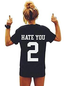 Sannysis Damen Sommer Kurzarm T-Shirt Sport Hemd