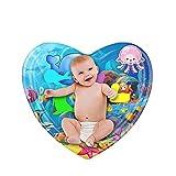 ZARLLE Inflatable Patted Pad -Cojín Inflable en Forma de corazón para bebé, Almohadilla de Juego de Agua patentada Inflable para bebés, Juguete para bebés, cojín Relleno de Agua