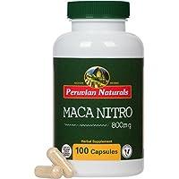 Maca Nitro 100 Capsules - Peruvian Naturals | mélange cru de Maca et de café vert pour la caféine et l'énergie naturelles
