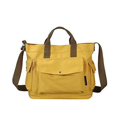 BBAGG Einfach, lässig, Canvas, groß, Handtasche, Damen, Umhängetasche, Hobo Baggelb - Gelbe Hobo Handtasche