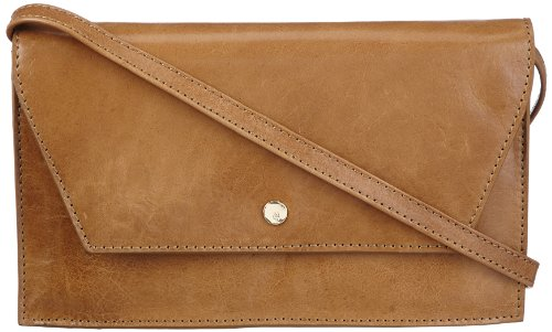 Adele Clutch (Marc O´Polo Accessories Adele Clutch 11582 29000 309, Damen Clutches, Beige (mustard), 25x14x3 cm (B x H x T))